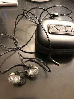 透明黑 美國製 Fender DXA1 IEM 入耳式 監聽級 耳機