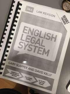 English Legal System QnA Gary Slapper and David Kelly