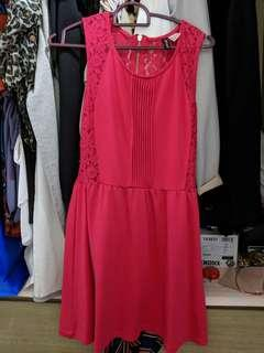 H&M Pink Dress with Lace