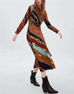 Chain Waist Dress
