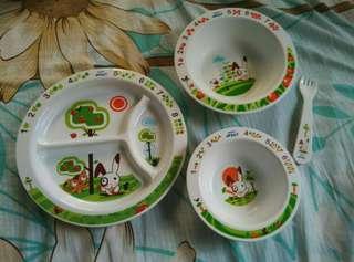 Baby plate set rabbit avent