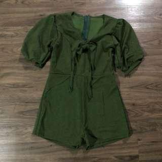 Brand new Army Green Romper
