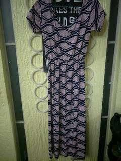 Midi stretchable dress