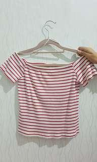 off shoulder stripe
