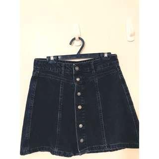 🚚 PULL&BEAR 歐美品牌 專櫃精品 原價2880 高級名牌 ML可穿 超級顯瘦排扣牛仔裙