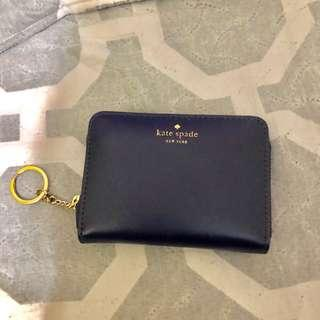 Kate Spade Dani Wright Place Leather Zip Small Wallet Keychain