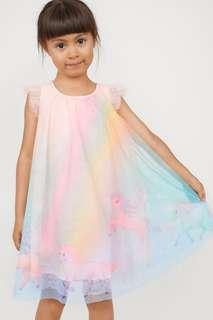 New Arrival! H&M Girl Glittery Unicorn Dress