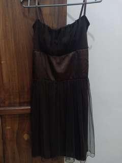 Strap Brown Dress