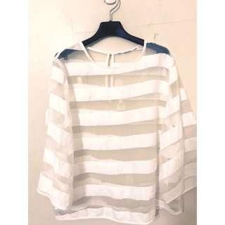 🚚 國外帶回 原價2569 高級歐根紗罩衫 真的非常美唷~ML都可穿 超級好看的喔❤️