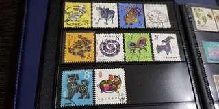 🚚 China old zodiac stamps