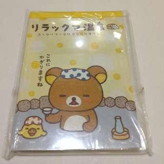 🚚 拉拉熊泡溫泉-方形便條紙