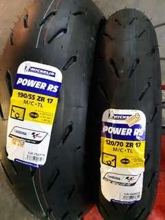 (現貨)Michelin  Power RS 輪胎一組 190/55 ZR17+120/70 ZR 17