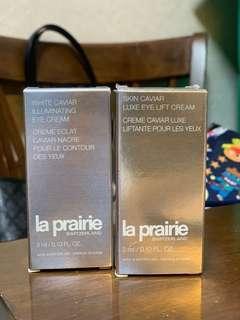 la prairie white caviar illuminating eye cream / eye lift cream 3ml 魚子晳白緊緻眼霜、魚子精華瓊貴緊緻眼霜