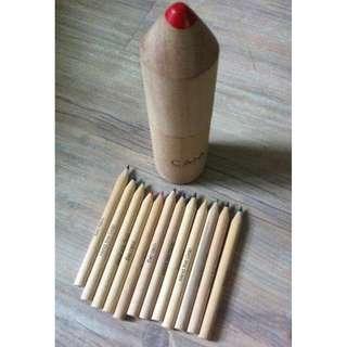 CAIA 12 set color pencil in a wooden pen shape box