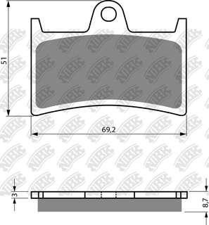 NiBk Brake pads for Yamaha Tmax 530