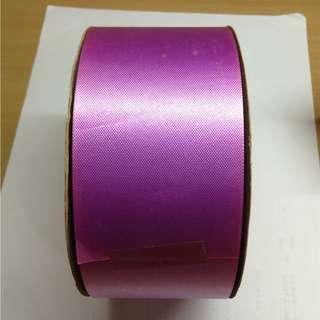 尼龍紫桃色素面緞帶(寬6公分)