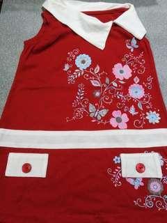 Preloved red floral dress