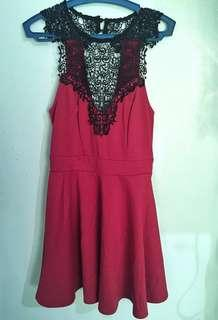 Red Lace Dress (MATERIAL GIRL)