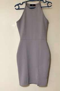 MISGUIDED LILAC BODYCON DRESS