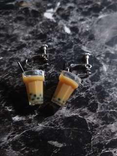 🚚 [WTS] BUBBLE TEA CLIP ON EARRINGS