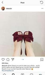 Sandal deazzle maroon