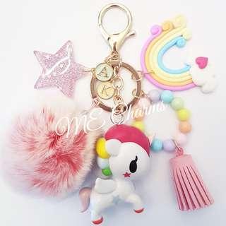 Tokidoki Neon Star Unicorno Stellina Bag Charms / Fobs