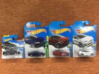 Hotwheels Tesla Lot; Tesla X & S Short Card