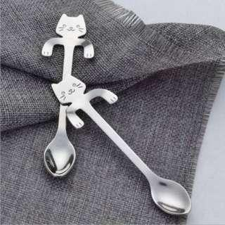 Cute Cat Hanging Teaspoon Stainless Steel (1PCS)