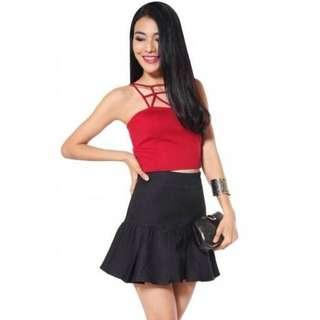LOVE BONITO Shareen Skirt in Black