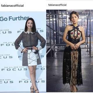 Fabiana C粉紅色鏈帶連身裙(台灣品牌)(林依晨&陳嘉樺)