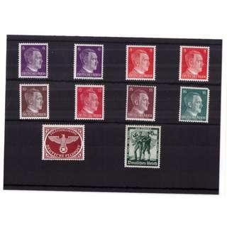 Mint Unused Third Reich Stamp Stockcard