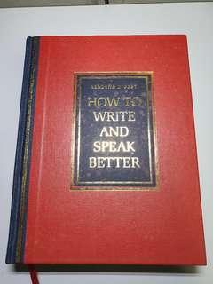 🚚 Readers digest, how to write and speak better
