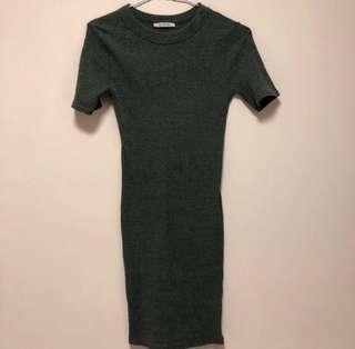 🚚 Zara 西班牙品牌 短袖合身洋裝