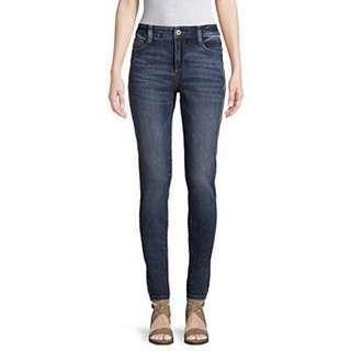 St. John's Bay Skinny Leg Mid-Rise Jeans - Geo