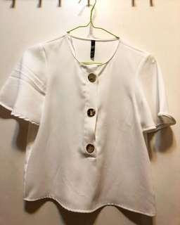 ZARA 白色上衣