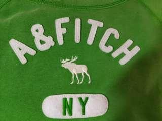 🚚 Abercrombie & Fitch 綠色長袖棉衣