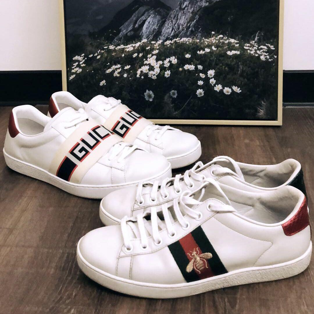 88af228a69 2 pairs of Gucci ace Sneakers for sale, Men's Fashion, Footwear ...