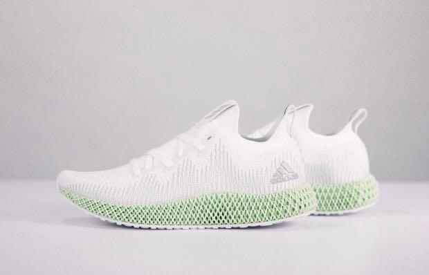 Alpha-Edge 4D Futurecraft Adidas Men's Size 11.5 White New w/ Tags Herren-Fitness- & Laufschuhe