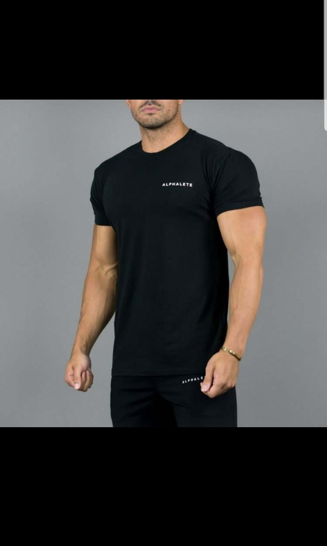 6897eb624582f Alphalete script performance shirt