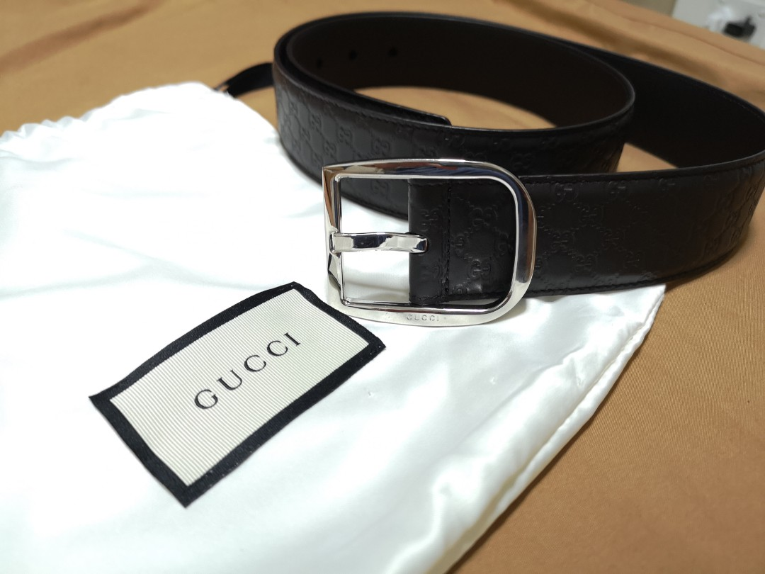 a0a3d8370dd Authentic Gucci Leather Belt.