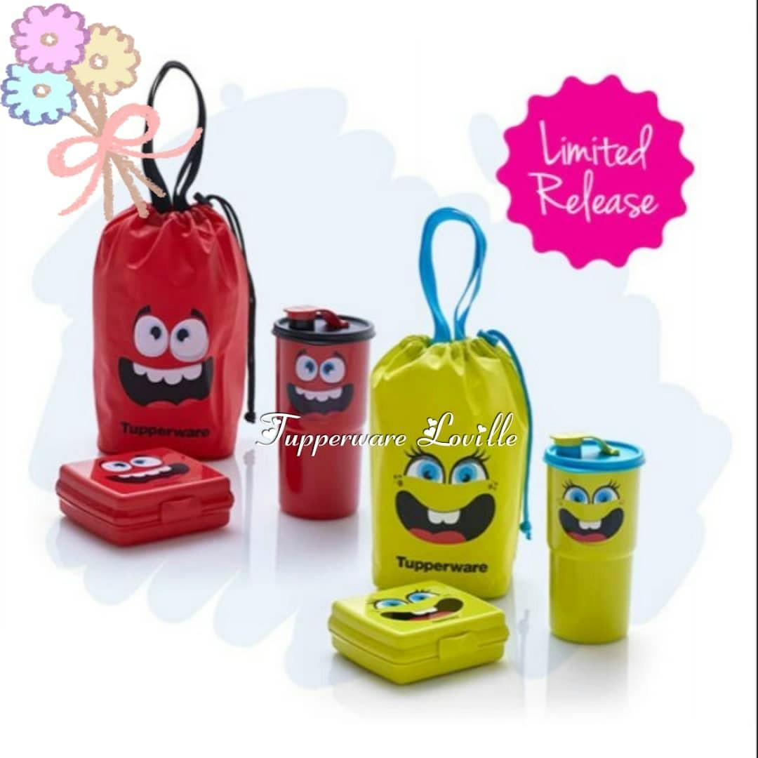 cc3e6c340fd2 PROMO‼️Tupperware Smiley Lunch Set on Carousell