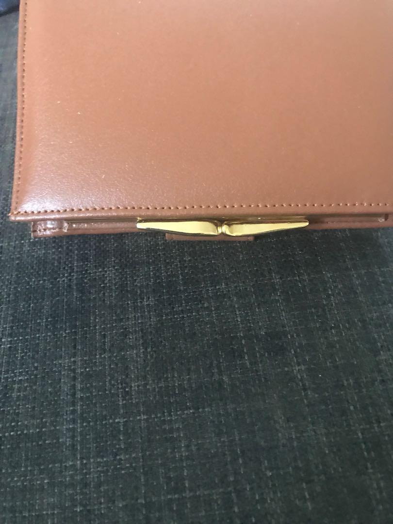 Bnip women's fiorelli tan genuine leather purse wallet