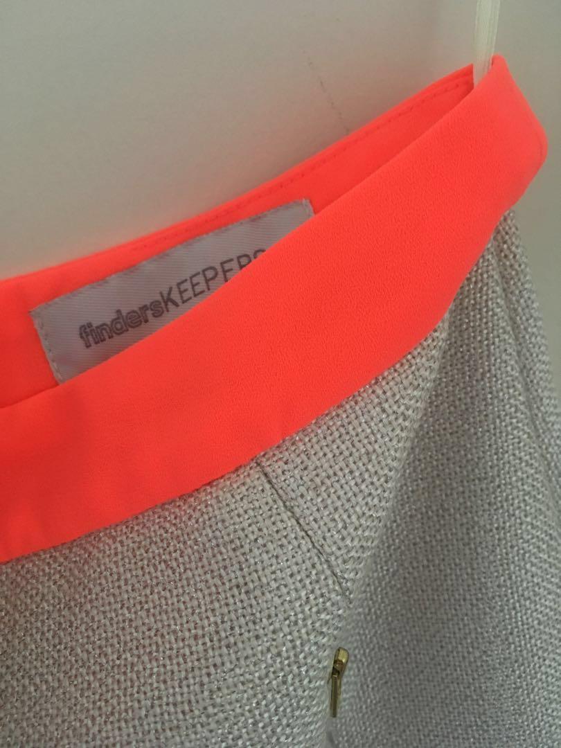 BNWOT Finders Keepers Skirt + Free Orange Jacket!