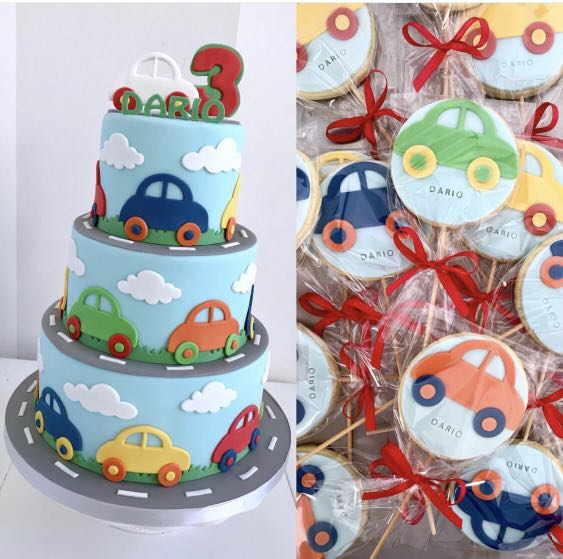 Car Theme Cake Boy Birthday Tiered Customized Fondant