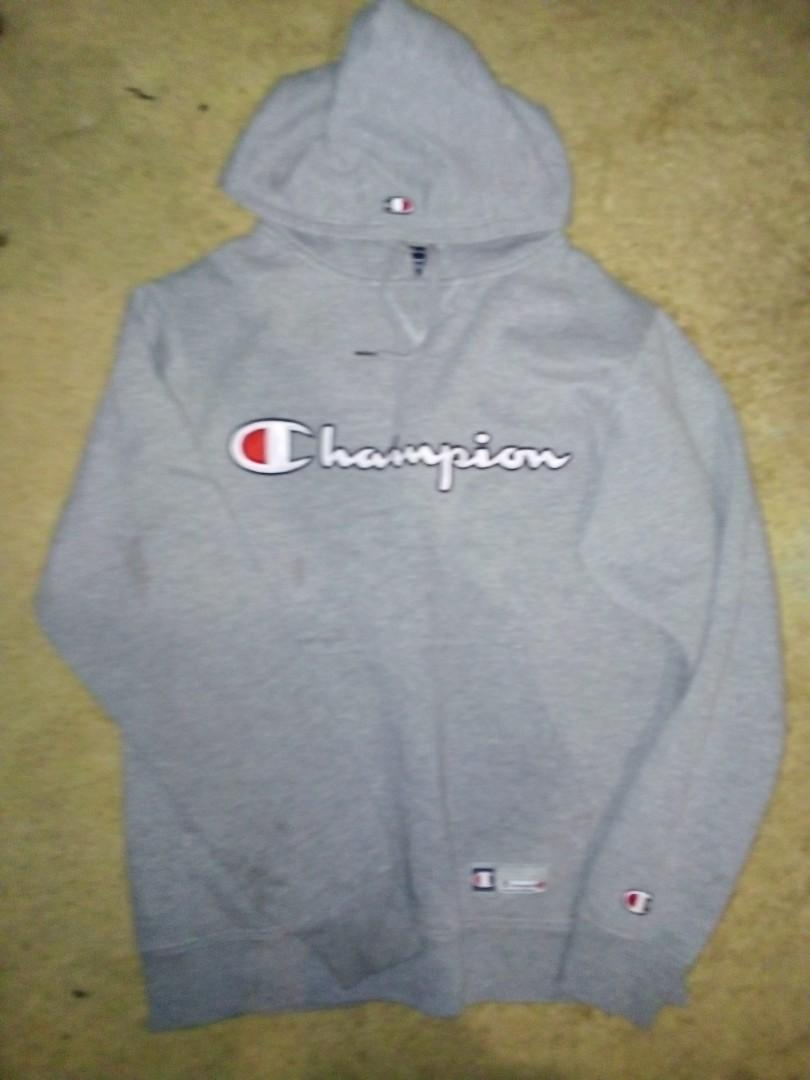CHAMPION vintage 90s hoody size S Heather grey