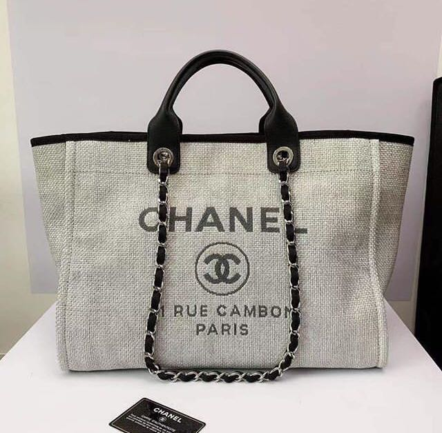 9a37b1a7e2fe Chanel Deauville Tote in large grey, Women's Fashion, Bags & Wallets on  Carousell