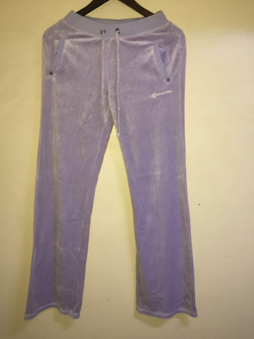 abbd3ac63627 Converse jogging pants suede cotton feel purple on Carousell