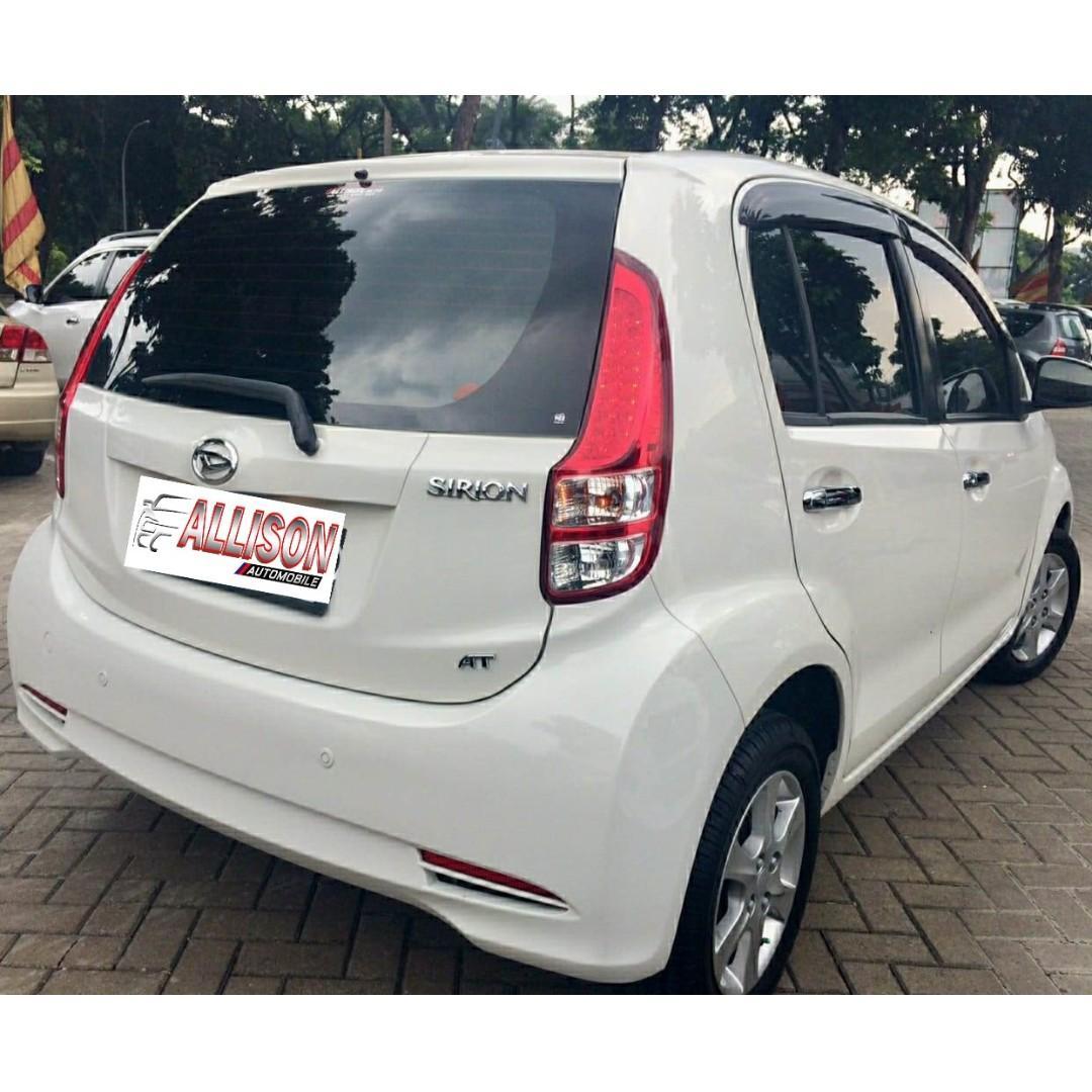 Daihatsu Sirion D 1.3 AT 2014 White  DP 12,9 Jt No Pol  Ganjil