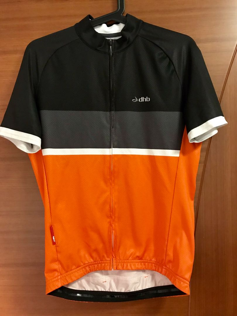 dhb Classic Short Sleeve Jersey - Black Orange 61d049b97