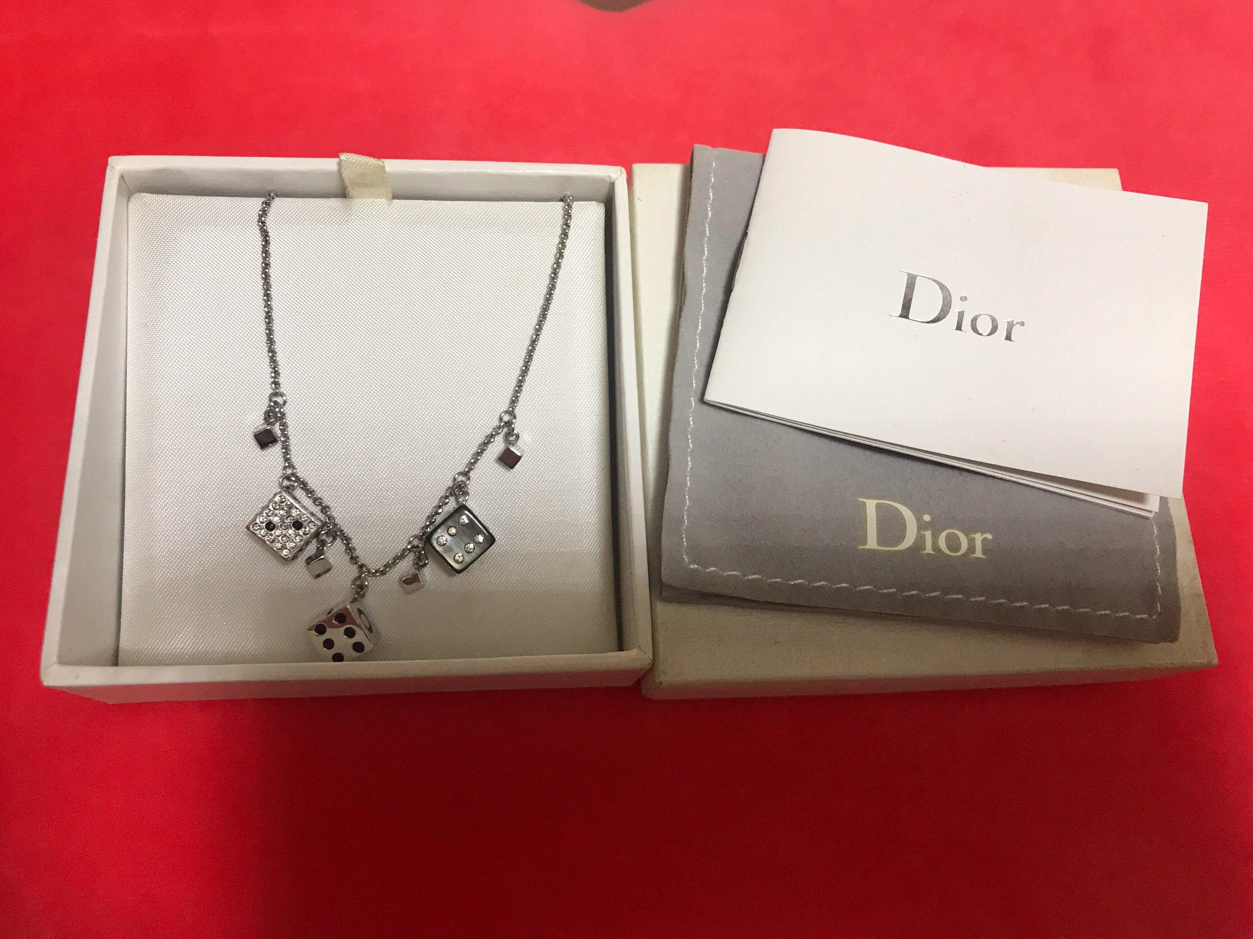 Dior 骰仔 限量頸鏈 連塵袋及位 (真品,假一賠百)